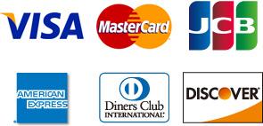 クレジットカード払い対応ブランド